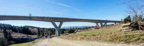 高速公路高架桥建设中在波兰 库存图片