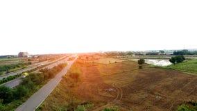 高速公路高的视图 免版税库存照片