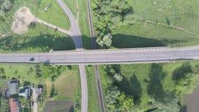 高速公路鸟瞰图在乌克兰 库存图片
