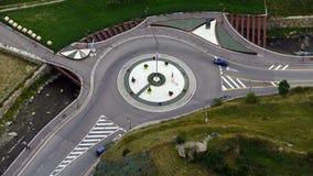 高速公路,顶视图环形交通枢纽  时间间隔 股票录像