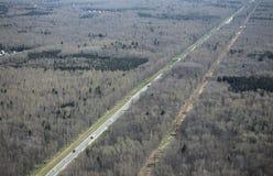 高速公路从上面 免版税库存照片