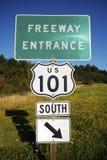 高速公路101入口 免版税库存图片