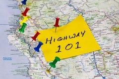 高速公路101加利福尼亚海岸线 库存图片