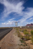 高速公路163北部标志 免版税图库摄影
