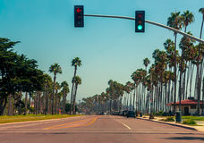 高速公路1在圣塔巴巴拉,加利福尼亚 库存图片