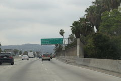 101高速公路-好莱坞 免版税库存图片
