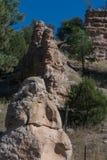 高速公路35岩层,新墨西哥 免版税图库摄影
