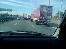 高速公路货物运输 库存图片