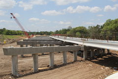 高速公路建筑 免版税库存照片