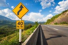 高速公路12路标在泰国 免版税库存图片