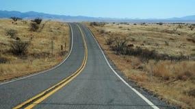 高速公路163通过纪念碑谷,亚利桑那 库存照片