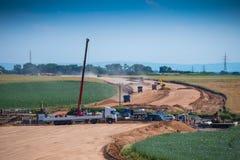 高速公路建造场所 库存图片