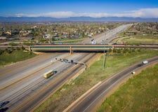 高速公路36,威斯敏斯特,科罗拉多 库存照片