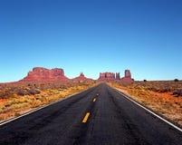 高速公路163,纪念碑谷,美国。 免版税库存图片