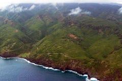 高速公路340, Kahekili路,在夏威夷避开毛伊海岛的东北海岸线  图库摄影