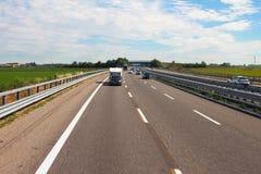 高速公路A7,米兰-萨沃纳 意大利 库存图片