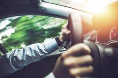 高速公路Eco驾驶 免版税库存照片