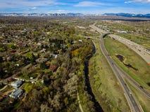 高速公路I70, Arvada,科罗拉多 免版税库存照片