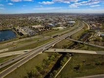 高速公路I70, Arvada,科罗拉多 免版税图库摄影