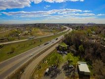 高速公路I70, Arvada,科罗拉多 库存图片