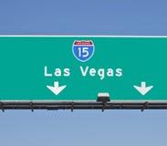 高速公路las签署维加斯 免版税库存图片