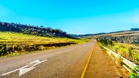 高速公路R532,全景路线,在Graskop附近在姆普马兰加省 免版税库存图片