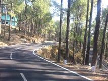 高速公路Uttarakhand印度 免版税库存图片