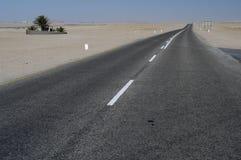 高速公路walvisbay的纳米比亚 免版税库存照片