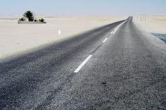 高速公路walvisbay的纳米比亚 库存照片