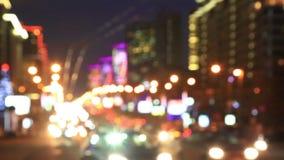 高速夜交通在城市 股票录像