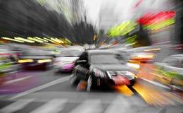 高速汽车发光光芒 库存图片
