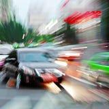 高速汽车发光光芒 库存照片