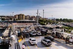 高速渡轮车运输-土耳其 免版税库存图片