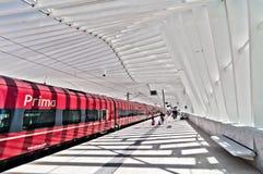 高速火车驻地在雷焦艾米利亚,意大利 图库摄影