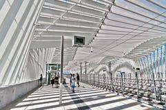 高速火车驻地在雷焦艾米利亚,意大利 库存图片