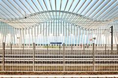 高速火车驻地在雷焦艾米利亚,意大利 库存照片