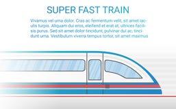 高速现代路轨火车概念传染媒介例证 免版税库存照片