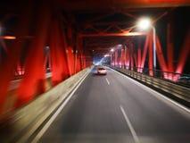 高速穿过桥梁 图库摄影