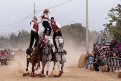 高速Pariglias在撒丁岛 免版税库存照片