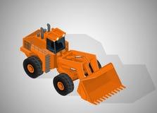 高采矿产业的设备 向量例证