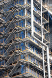 高钢台阶在工厂 库存照片
