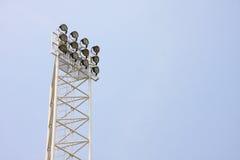 高闪亮指示的体育场 免版税库存照片