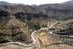 高阿特拉斯山脉在摩洛哥 库存图片