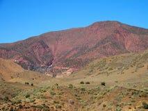 高阿特拉斯山脉范围风景在摩洛哥 库存照片