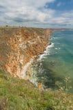 高陡峭的海岸 免版税库存照片