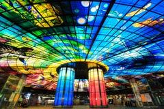 高雄,台湾- 2014年11月05日:光圆顶在形式的 免版税图库摄影