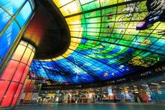 高雄,台湾- 2014年11月05日:光圆顶在形式的 免版税库存照片