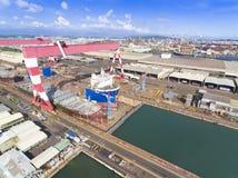 高雄,台湾7月10日2017年:船在造船厂在高雄, 库存照片
