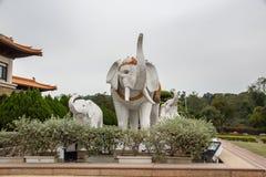 高雄,台湾- 12月1,2017 :大而无用的东西雕象在佛光山菩萨博物馆 免版税库存照片