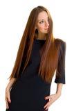 高雅头发长的样式妇女 免版税库存照片